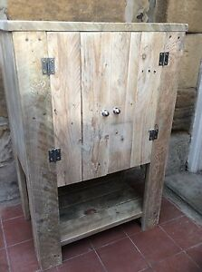 Freestanding Cupboard / Vanity Unit Made from Reclaimed Pallet wood
