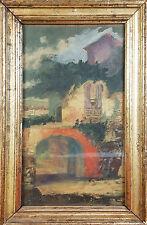 PAYSAGE. PORTIQUE. HUILE SUR TOILE. ANONIMO. ÉCOLE ESPAGNOLE. CENTURY XIX-XX.