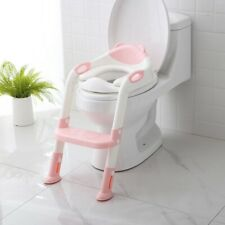 Kids Potty Training Seat Step Stool Ladder Child Toddler Toilet Chair Non-Slip