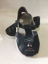 Toddler Girls/Boys Small Steps Sandals Leather Sailboat USA Made