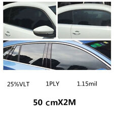 25% VLT Black Car Home Glass Window TINT Film and Shade Vinyl Roll 50cmx200cm