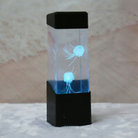 Bedside Desk Lamp Jellyfish Water Aquarium Fish Tank LED Light Bedroom Decor