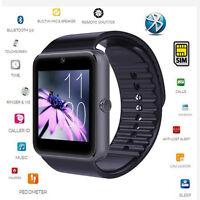 Smart Watch GT08 Bluetooth Kamera Für Android Smartphone Armbanduhr Schwarz NEU