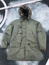 VINTAGE MENS ARMY ARTIC SNORKEL PARKA FUR LINED WINTER JACKET XL