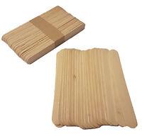 Jumbo Size Plain Wooden Lolly Pop Craft Sticks 150mm x  18mm - UK Seller