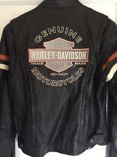 Harley Davidson Miss Enthusiast 3N1 Leather Jacket Women's Medium Black