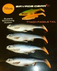 savage gear 10cm roach paddletail lures 4pcs  pike predator pack ! bargain