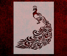 "Peacock Feathers 8.5"" x 11"" Stencil FAST FREE SHIPPING (574)"