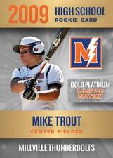 MIKE TROUT 2009 FIRST HIGH SCHOOL GOLD PLATINUM ROOKIE CARD ONLY 2,000 MADE ANGL