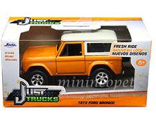 JADA JUST TRUCKS 97315 1973 73 FORD BRONCO 1/32 DIECAST MODEL CAR ORANGE