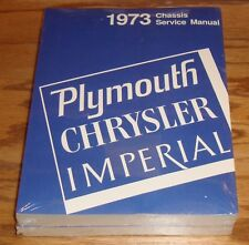 1973 Plymouth Chrysler Imperial Chassis Service Shop Manual Vol 1 2 Set 73