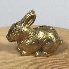 Miniature Figurine Brass Rabbit  Animal Metalwork #11