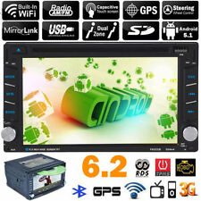 6.2'' Bluetooth Double 2Din HD TouchScreen Car Radio CD Stereo MP5 TV Player GPS