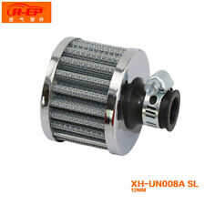 Silvery 12mm Car Motor Cold Air Intake Filter Turbo Vent Crankcase Breather New