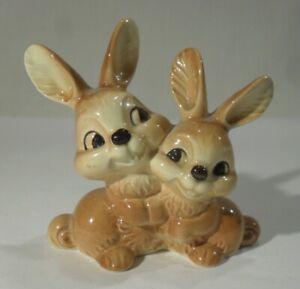 niedliches GOEBEL HASEN PAAR 34818 Häschen Porzellan Skulptur Bunny Osterhase