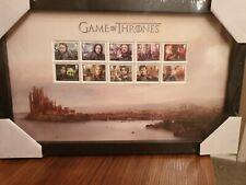 Game of Thrones Royal Mail 10 Briefmarken Set gerahmt