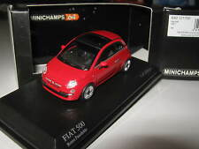 1:64 FIAT 500 2007 red 640121700 MINICHAMPS OVP new