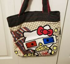 Rare Loungefly HELLO KITTY 3D Movie Canvas TOTE Bag Popcorn 3D Glasses Purse