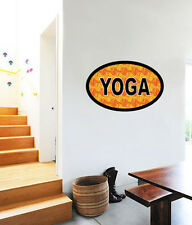"Yoga Oval Wall Decal Large Vinyl Sticker 25"" x 16"""
