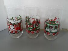 Coca Cola Christmas Glasses Lot Of 3 Coke