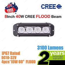 8inch 40W CREE LED Light Bar Work FLOOD Beam SINGLE ROW Truck ATV 4WD Car