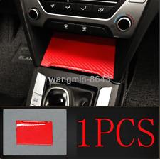 For Hyundai Elantra 17-2020 Red Carbon fiber Console USB Cigarette Lighter cover