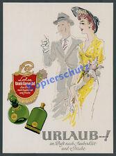 Farb-Reklame Gustav Lohse Lavendel Parfüm Dame Mode Blumen Art Deco Berlin 1941