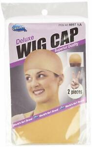 2 Pcs Elastic Unisex Stocking Wig Liner Cap Snood Nylon Stretch Mesh