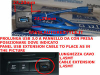 ADATTATORE USB 3.0 MASCHIO A FEMMINA INCASSO PANNELLO GOLF 5 V 6 VI PASSAT AUDI