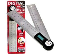 Digital LCD Angle Finder Stainless Steel Rule Trend 400mm Ruler 360 Degree Gauge