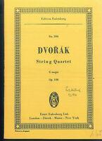 DVORAK ~ String Quartet G Dur Op. 106 - Studienpartitur