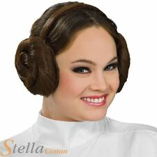 Ladies Princess Leia Bun Hairstyle Headband Star Wars Fancy Dress Accessory