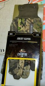 Realtree Edge Camo Thermal Stretch Gloves Hunting  Size L/XL Non Slip Palm Grip
