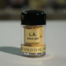 23.5K - Edible Gold Leaf Flakes (500mg)To Decorate Food, Drinks, Desserts,& More