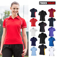 Finden & Hales Women's Piped Performance Polo LV371 - Ladies Short Sleeves Tee