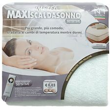 Scaldasonno Scaldaletto Maxi Sensitive IMETEC Matrimoniale 2 piazze 100% peluche