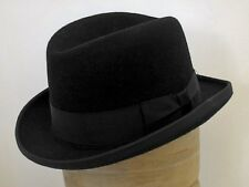 Homburg wool felt hat black