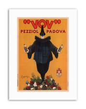 Vov Pezziol licor PADOVA ITALIA Payaso vintage retro de Lona Impresiones Artísticas
