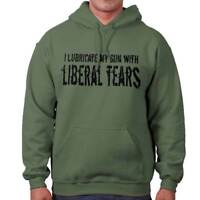 I Lubricate My Arms With Liberal Tears Funny 2nd Amendment Hooded Sweatshirt