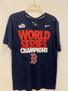 Nike Boston Red Sox 2013 World Series Champions Men's T-Shirt New Size Small