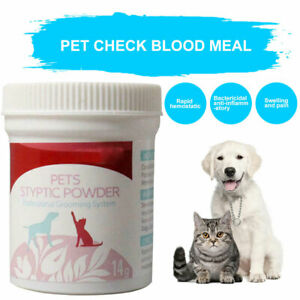 AM_ Pet Grooming Styptic Powder For Dog Cat Bird Claw Nail Wound Bleeding