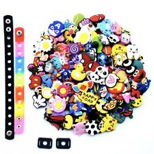 US STOCK Random 100PCS Shoe Ornaments Lace Fit Whirstbands/Backpack/Garden Shoes