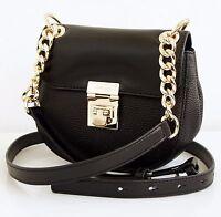 Michael Kors Bolso / Bag CECELIA mini saddle hombro piel negro NUEVO