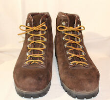 Women's Vintage THE ALPS FABIANO PALONS Brown Suede Hiking Boots sz 9.5 M US