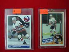 2 PAT LAFONTAINE HOCKEY CARDS 1984-85 OPC #129 AND 1985-86 TOPPS #137 *NM/MT*