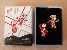 London 2012 Wenlock & Mandeville Union Flag Limited Edition Pin Badge Boxed Set
