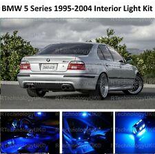 BLUE PREMIUM BMW 5 SERIES E39 SALOON INTERIOR FULL LED BULBS LIGHT KIT SET