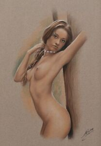"Original   Pastel Drawing ""mary"" by DP Kunst"