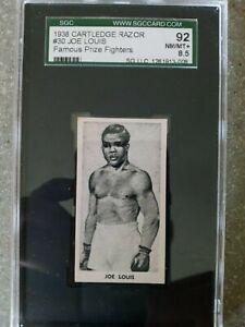 1938 Cartledge Razor Famous Prize Fighters Joe Louis #30 Rookie Rc SGC 8.5