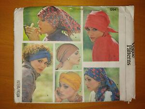 Vintage Vogue 1294 Sewing Pattern Misses' Hats UNCUT FF